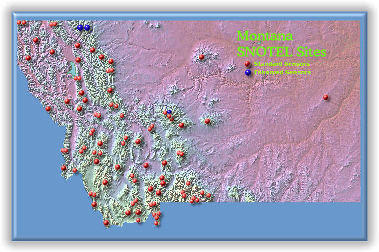 Snotel Montana Map.Montana Earth Science Picture Of The Week